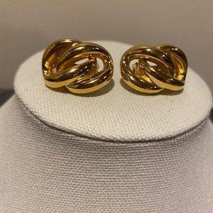 VTG Christian Dior Gold Chain-Link Clip-On Earring
